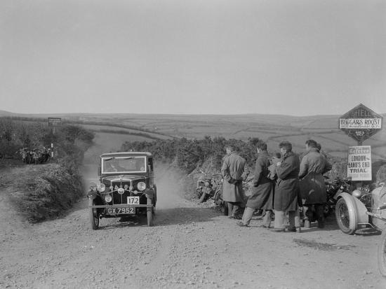 Morris of HG Smith, MCC Lands End Trial, summit of Beggars Roost, Devon, 1933-Bill Brunell-Photographic Print