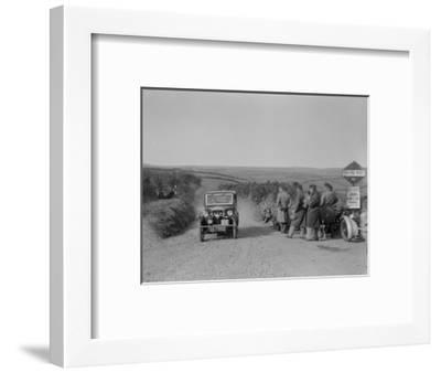 Morris of HG Smith, MCC Lands End Trial, summit of Beggars Roost, Devon, 1933-Bill Brunell-Framed Photographic Print