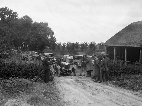 Morris Oxford and 1929 Crossley at the JCC Inter-Centre Rally, 1932-Bill Brunell-Photographic Print