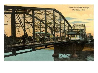 Morrison Street Bridge, Portland, Oregon--Art Print