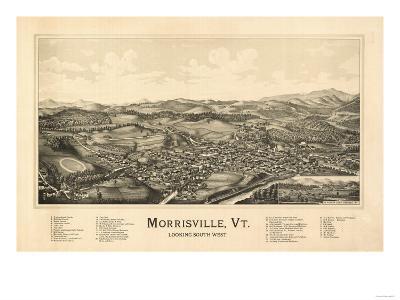 Morrisville, Vermont - Panoramic Map-Lantern Press-Art Print