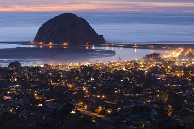 Morro Bay and Morro Rock at Dusk From Black Hills-Rich Reid-Photographic Print