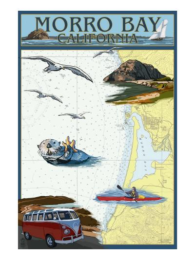 Morro Bay, California - Nautical Chart-Lantern Press-Art Print