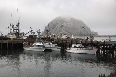 Morro Rock in Fog-Stuart-Photographic Print