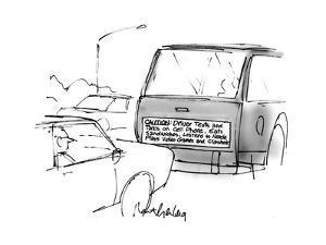 Caution sign. - Cartoon by Mort Gerberg