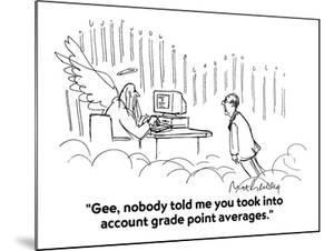 """""""Gee, nobody told me you took into account grade point averages."""" - Cartoon by Mort Gerberg"""