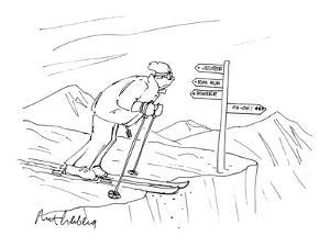 Man Skiing - Cartoon by Mort Gerberg