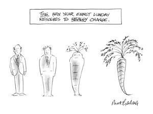 This Year, Emmet Lunday Resolves to Really Change - New Yorker Cartoon by Mort Gerberg