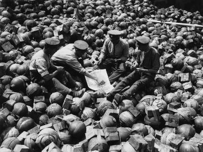 Mortar Pile 1916-Robert Hunt-Photographic Print