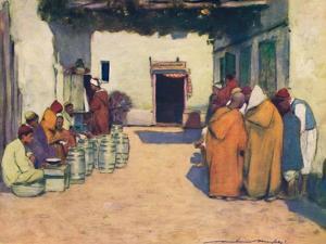 'A Courtyard', 1903 by Mortimer L Menpes