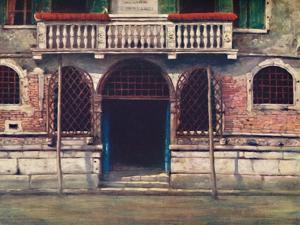 'A Doorway, Venice', 1903 by Mortimer L Menpes