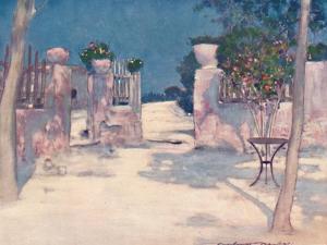 'A Garden, Athens', 1903 by Mortimer L Menpes