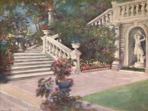 'A Garden, Rome', 1903 by Mortimer L Menpes
