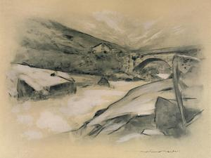 'A Mountain Torrent', 1903 by Mortimer L Menpes