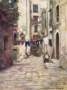 'A Street in Naples', 1903 by Mortimer L Menpes