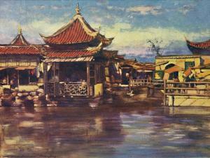'A Tea House, Shanghai', 1903 by Mortimer L Menpes
