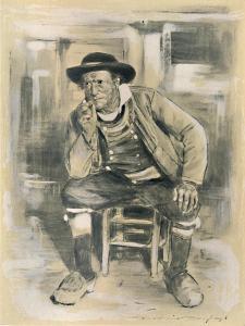 'Breton Peasant', 1903 by Mortimer L Menpes
