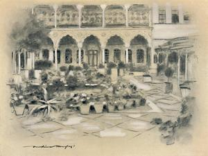 'Courtyard in Damascus', 1903 by Mortimer L Menpes