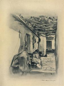 'Courtyard in Seville', 1903 by Mortimer L Menpes