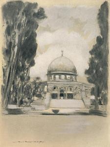 'Mosque of Omar, Jerusalem', 1903 by Mortimer L Menpes