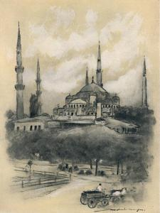 'Mosque of St. Sophia, Constantinople', 1903 by Mortimer L Menpes