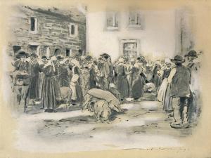 'Pig Market', 1903 by Mortimer L Menpes