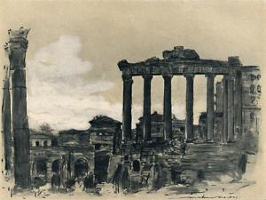 'Remains of Ancient Rome', 1903 by Mortimer L Menpes