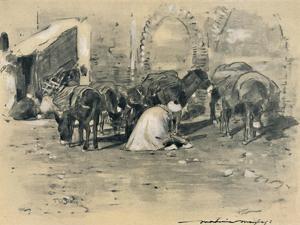 'Street Scene in Tangier', 1903 by Mortimer L Menpes