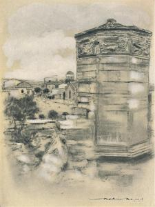 'Tower of the Winds, Athens', 1903 by Mortimer L Menpes