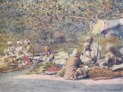 'A Vegetable Market, Peshawur', 1905