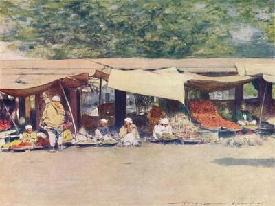 'Market Day in Peshawur', 1905