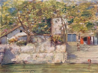 'On the River Steps at Agra', 1905