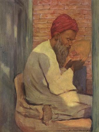 Indian slipper-maker - 19th century