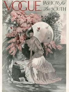 Vogue Cover - January 1910 by Mortimer