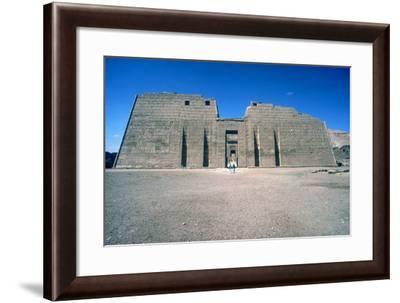 Mortuary Temple of Rameses III at Medinat Habu, Luxor, Egypt, 20th Dynasty, C12th Century Bc-CM Dixon-Framed Photographic Print