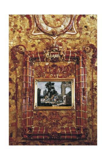 Mosaic and Painting, Amber Room or Amber Chamber--Giclee Print