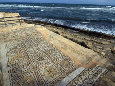 Mosaic at the Seaward Bath, Roman Site of Sabratha, UNESCO World Heritage Site, Libya-Ethel Davies-Photographic Print