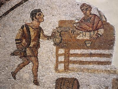 Mosaic Depicting a Banquet at Carthage from Uzitta--Giclee Print