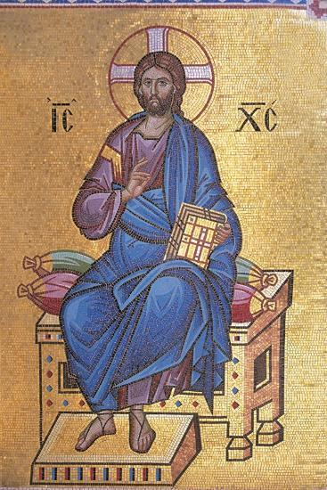 Mosaic Depicting Christ on Throne--Giclee Print