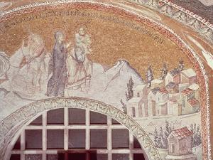 Mosaic Depicting City of Nazareth, 1315-1320, Church of Holy Saviour in Chora