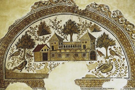 Mosaic Depicting Country Farm, from Sousse, 3rd-4th Century, Tunisia--Photographic Print