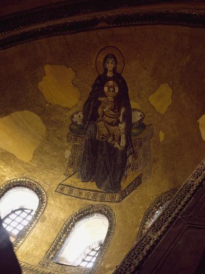Mosaic Depicting Madonna and Child--Photographic Print