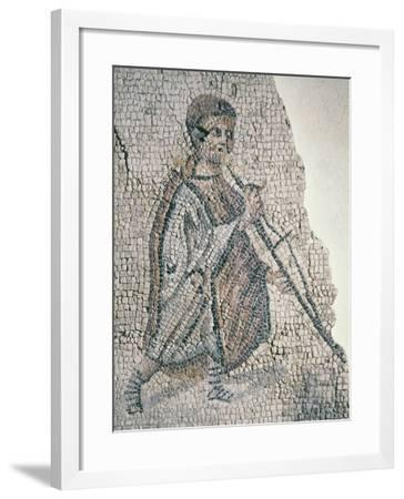 Mosaic Depicting Musician--Framed Giclee Print