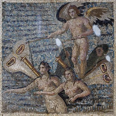 Mosaic Depicting Psyche, Uncovered in Daphne, Antioch, Turkey, 3rd Century--Giclee Print