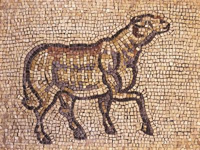 Mosaic Depicting Ram or Sheep, from Jieh, the Old Porphyrion, Lebanon--Giclee Print