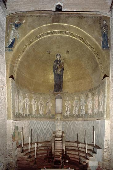 Mosaic Depicting the Madonna and Child and the Twelve Apostles, in the Cupola, Looking Forward--Giclee Print