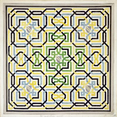 Mosaic Design from the Alhambra, from 'The Arabian Antiquities of Spain', Published 1815-James Cavanagh Murphy-Giclee Print