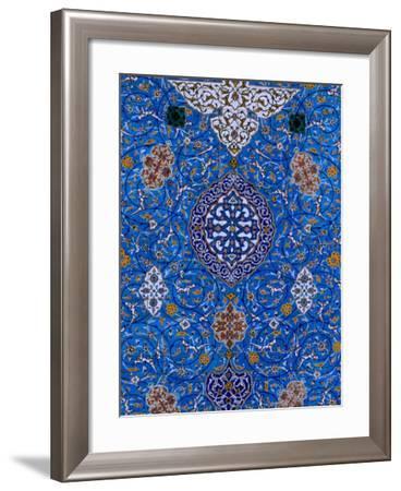 Mosaic Detail at Abul Al Fadhil Al Abbasi Shrine, Karbala, Karbala, Iraq-Jane Sweeney-Framed Photographic Print