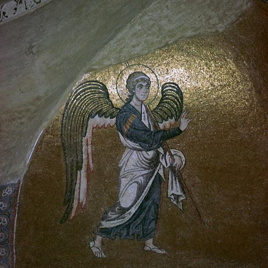 Mosaic detail of the angel Gabriel, 11th century-Unknown-Giclee Print