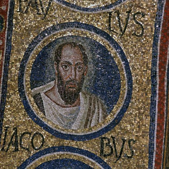 Mosaic detail showing St Paul, 5th century. Artist: Unknown-Unknown-Giclee Print